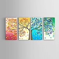 Handpainted Oil Painting Four seasons lucky Tree Landscape Stretched Frame Ready To Hang – GBP £ 73.91
