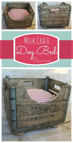 milk crate dog bed Too bad it's too small for E and M