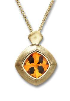 One-of-a-Kind Citrine Pendant Gemstone Necklace, Pendant Necklace, Citrine Pendant, Unique Necklaces, A 17, Stone Pendants, Jewelry Ideas, Jewels, Chain