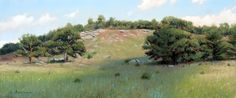 Little Round Top, by Larry Selman, original in Private collection