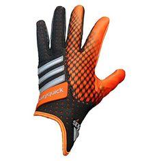 adidas CrazyQuick 2.0 Football Gloves (Black/Orange, 3X-Large)