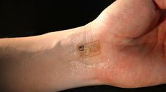 Temporary tattoos can detect electrical signals linked with brain waves, and incorporate solar cells for power and antennas that allow them to communicate wirelessly or receive energy. Other elements can be added as well, like thermal sensors to monitor skin temperature and light detectors to analyze blood oxygen levels. (february 2013)