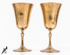 TheCordialMagpie on Etsy: Pair of Vintage Brass ? Goblets / Chalices Made in India Game of Thrones -  Lovely Rustic Patina Vintage Brassware - Fun Decorative Ware!