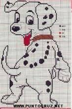 Resultado de imagen para patrones de punto de cruz de perros gratis
