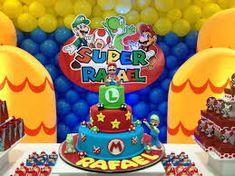 Resultado de imagem para bolo festa mario
