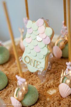 Fish scale cookie from a Pastel Mermaid Birthday Party via Kara's Party Ideas | KarasPartyIdeas.com (21)