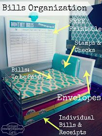 Bill Organization...Very Cute and Easy to do.