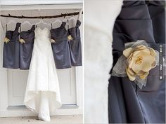 gray bridesmaid dresses | CHECK OUT MORE IDEAS AT WEDDINGPINS.NET | #bridesmaids
