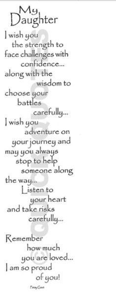 To my beautiful daughters!