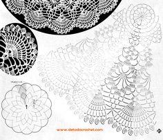 4 patrones gráficos de tapetes crochet