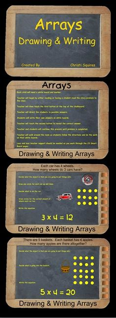 Arrays Drawing and Writing  SMARTBoard Lesson $