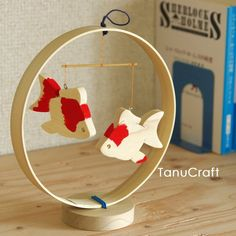 Golden Fish, Wooden Blocks, Wood Toys, Chinese New Year, Diy Art, Origami, Kids Room, Room Decor, Ornaments