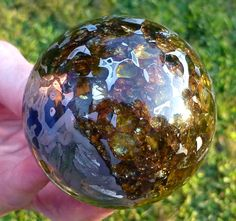 The above are polished meteorite spheres.