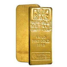 1 kilo Republic Metals (RMC) Gold Bar .9999 Fine (w/Assay)
