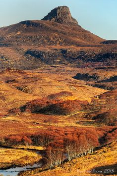 Stac Pollaidh from the Coigach - Lochinver road, Scotland