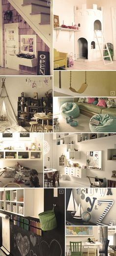 Ideas and designs for a playroom basement..