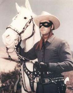 """Clayton Moore as """"The Lone Ranger."""""""