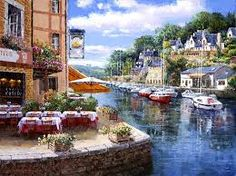 Corner of Paradise Large Format 300 Piece Puzzle: Large piece format is easy to see and handle. This jigsaw puzzle measures 27 300 Piece Puzzles, Mediterranean Tile, Art Corner, Puzzle Art, Tile Murals, Ocean Themes, Decorative Tile, Large Format, Beach Scenes