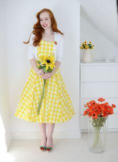 Довольно платье Компания желтый холстинки Присцилла платье