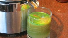 Kale Carrot and Apple Juice. Kale loaded with calcium. May curb sugar cravings. Add water if using a VitaMix.
