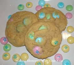 MandM Pudding cookies-seriously amazing!  We made them and the entire neighborhood devoured them!