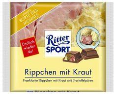 RITTER SPORT Schokolade Rippchen mit Kraut