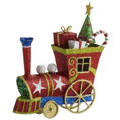 """Glitter Train Ornament  3.75""""W x 1.25""""D x 4.25""""H $5.95"""