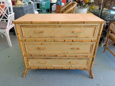 Rattan BAMBOO Woven Chest for the Bedroom :)