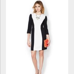 Kate Spade Tillie Dress In excellent condition. White and black dress with invisible back zipper. kate spade Dresses