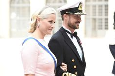 Wedding of Prince Carl Philip of Sweden and Sofia Hellqvist, June 13, 2015- Crown Princess Mette-Marit and Crown Prince Haakon