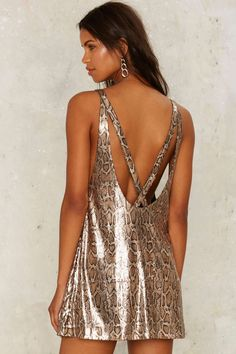 Nasty Gal Collection Cold Hearted Snake Sequin Dress | Shop Clothes at Nasty Gal!
