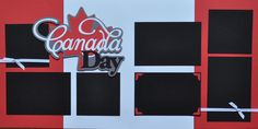 Highlight the fun of Canada Day on this fun Canada Day Scrapbook page kit. 12x12 Scrapbook, Scrapbook Sketches, Travel Scrapbook, Digital Scrapbooking, Page Layout, Layout Design, Canada Day 150, Garden Journal, Love Holidays