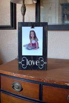 Painted Solid Wood Photo Block by blockpaperscissors on Etsy, $20.00