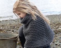 This listing is a PDF PATTERN ONLY for the Finleigh Cape, NOT finished product.  This cape is handcrafted and designed with comfort and warmth in