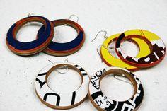 Skateboard Earrings. Recycling Schmuck - Aus alten Brettern mach neue Ohrringe. www.urbanstoke.de
