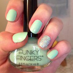 Five below nail polish! And glitter :)