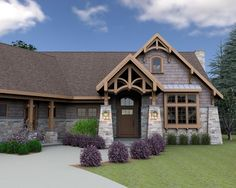 Custom House Plans Designs by Brian K. New Home Floor Plans, Cottage, Craftsman, Bungalow and Energy Efficient Log Home plans sold directly with new home buyers, designers and builders. Log Home Plans, Custom Home Plans, New House Plans, Home Design Plans, House Floor Plans, Mountain Cottage, Mountain House Plans, Mountain Homes, Red Cottage