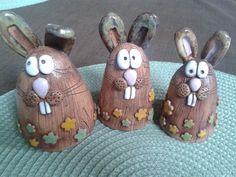 Pots, Polymer Clay, Magic, Chocolate, Christmas Ornaments, Holiday Decor, Funny, Rabbits, Animales