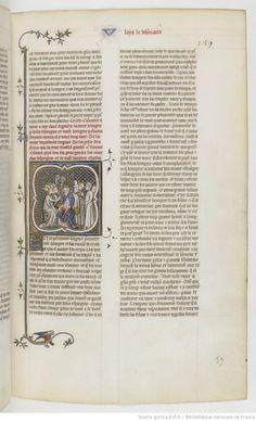 Grandes Chroniques de France Fol 139r, 1375-1380, Henri du Trévou & Raoulet d'Orléans