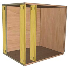 THOROUGH description of varied options when building Frameless Base Cabinets