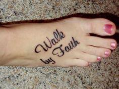 faith foot tattoos