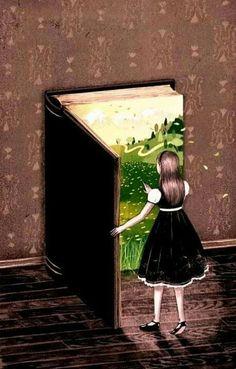 Books are door shapped – Joy of Reading Double Exposition, Reading Art, Book Drawing, Free Art Prints, World Of Books, Children's Book Illustration, I Love Books, Art Plastique, Surreal Art