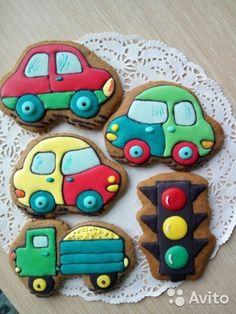 Имбирные пряники к любому празднику— фотография №2 Car Cookies, Fancy Cookies, Cupcake Cookies, Beads Of Courage, Galletas Cookies, Meringue Cookies, Birthday Cookies, Cookie Designs, Childrens Party