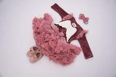 Milulove.pl Body i spódnica tiulowa idealny zestaw na roczek Body