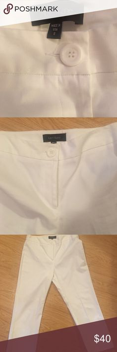 Karen Kane White Capri Pants Are you ready for SUMMER??🌞 A must have for your wardrobe are these Karen Kane white Capri pants.  Please refer to the pictures for exact measurements...  (Don't tell my mom, but I am almost 💯 % confident these have not been worn..) No signs of wear.... Karen Kane Pants Capris