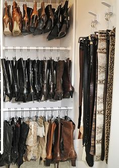 Amazing Boot Storage Idea  I Need To Find A New Way To Put Up My Boots. Closet  OrganizationOrganization ...