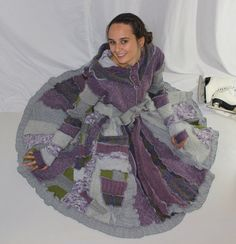 Elf Coat Sweater Coat Upcycled Recycled Sweaters FREE by tantor, $300.00