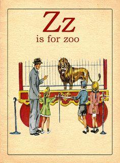 Vintage Z alphabet card