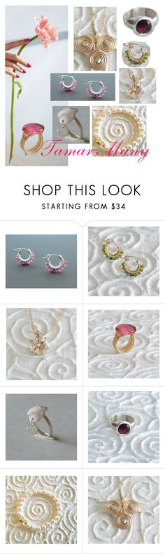 """""""romantic jewelry inspaire"""" by tamarmanyjewelry on Polyvore featuring gift, flower, romantic, jewelry and delicate"""