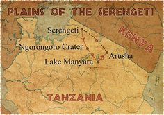 Serengeti Plain Map | Tanzania, Africa
